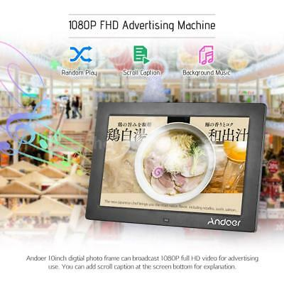 """Andoer 10"""" LCD HD Digital Photo Picture Frame MP4 Player+Remote Gift Black U0X5"""