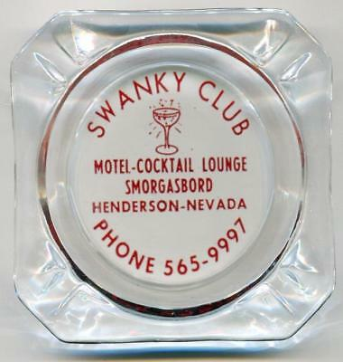 Henderson Boulder Highway Nevada scarce SWANKY CLUB Casino Ashtray