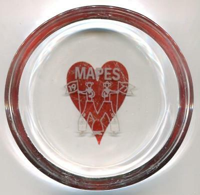 Reno Nevada MAPES rare Casino Ashtray w/heart