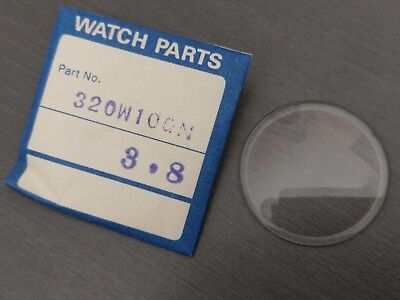 SEIKO 320W10GN Mineral GLASS Crystal NOS for 6105-8110 6105-8000 + MORE