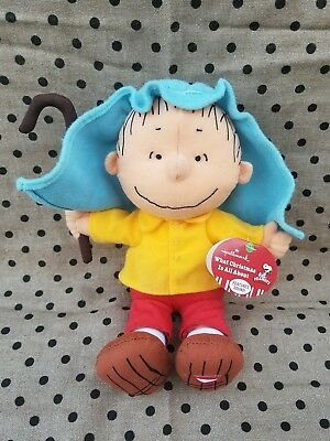 Hallmark Peanuts Charlie Brown Linus Talking Plush What Christmas is All About