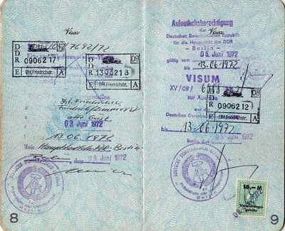 US Passport 1969 with visa & revenue for EAST GERMANY! Cold War! WOW!