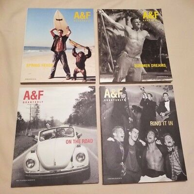 Abercrombie & Fitch Quarterly Magazines and catalogs - Large Lot 1999 to 2005