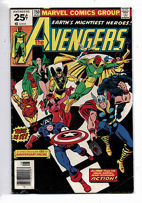 Avengers #150 and #157, Marvel, 1977, VG+ condition