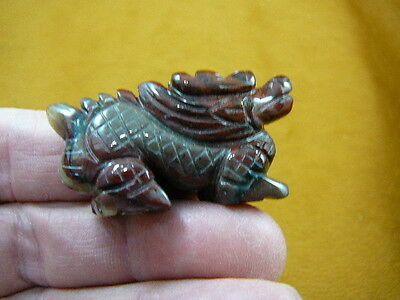 (Y-DRA-CDW-554) little Red winged Chinese Dragon MYTHICAL carving gemstone