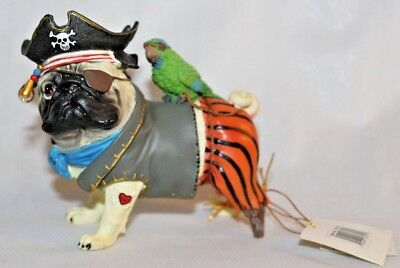 Pug-nacious Puggy the Pirate 2007 Westland Giftware With Tags