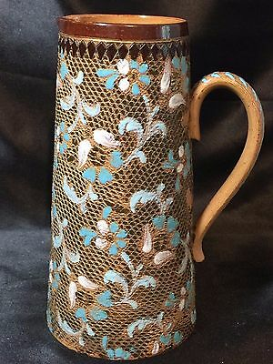 Doulton Lambeth Slaters Pitcher by E. Henderson - Marked 1822 & 3 Hash Marks