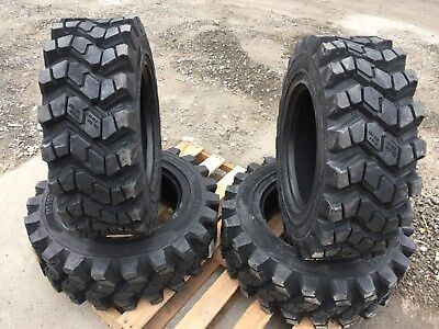 4 Camso SKS753 10-16.5 Skid Steer Tires for Bobcat & more- 10X16.5 - Heavy duty