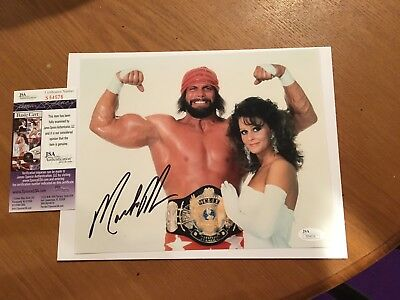 MACHO MAN RANDY SAVAGE  AUTOGRAPHED SIGNED JSA 8x10 PHOTO WWE