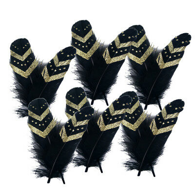 "12pcs 6-8"" Beautiful Goose Feathers Party Headdress Craft Wedding Decoration"