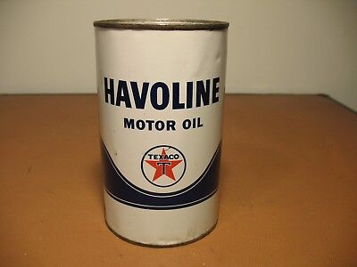 Vintage Texaco Havoline Oil Can 1 Imperial Quart , Gas & Oil  Advertising