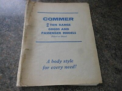 Commer Sales Booklet Body Styles 3/4 Ton