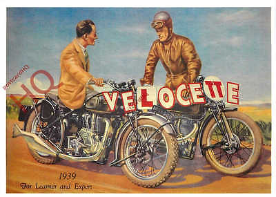 Picture Postcard- MOTORCYCLE, VELOCETTE