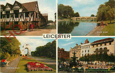 Picture Postcard:;Leicester (Multiview) [Salmon]