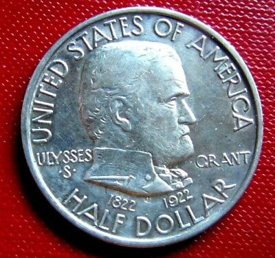 1922 Grant Commemorative Half Dollar, Graded Uncirculated Details by NGC