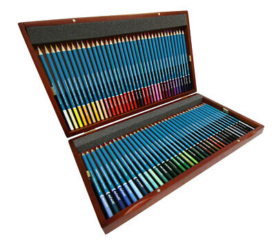 Mont Marte Premium Watercolour Pencils In Wooden Box 72pc