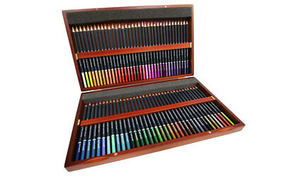 Mont Marte Premium Colour Pencils In Wooden Box 72pc