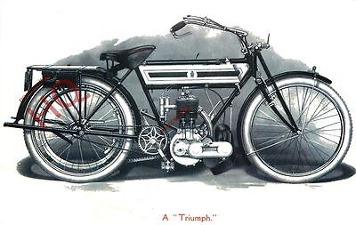 Picture Postcard::MOTORCYCLE, A TRIUMPH