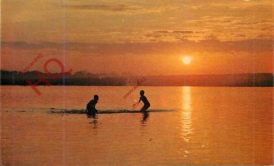 Picture Postcard, Burma, Sunset On Irrawaddy River