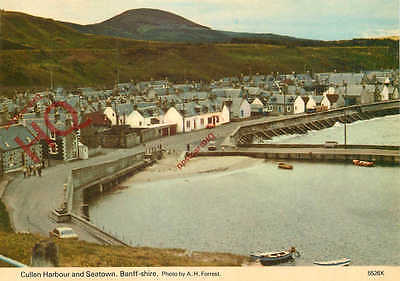 Picture Postcard, Cullen Harbour And Seatown, Banff-Shire [Hail Caledonia]