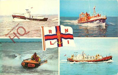 Picture Postcard, RNLI Lifeboats (Multiview)