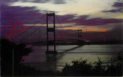 Picture Postcard:-The Severn Bridge By Night