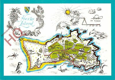 Picture Postcard:;Herm Island, Map