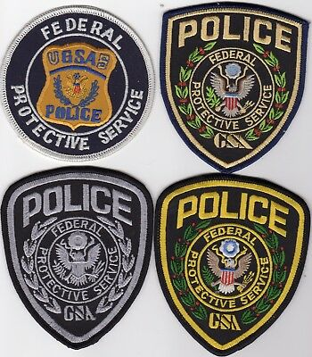 FEDERAL PROTECTIVE SERVICE GSA patches