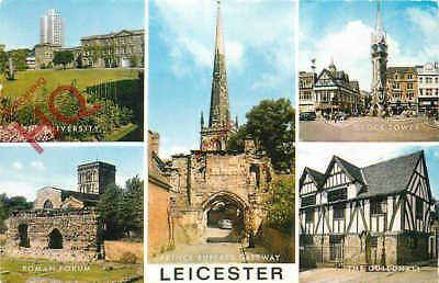 Picture Postcard--Leicester (Multiview) [Salmon]