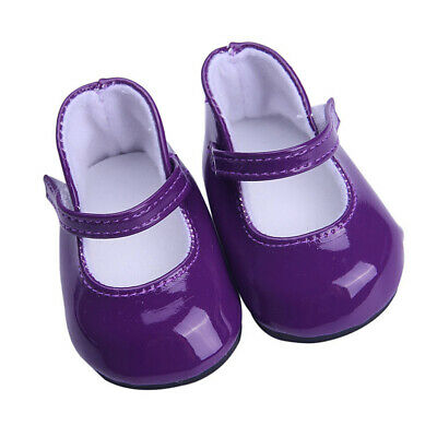 Lovely Dolls Purple PU Leather Shoes for 18'' AG American Doll Dolls Costume