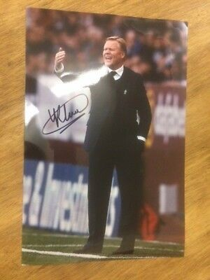 Ronald Koeman Everton Fc Manager Hand Signed A4 Photo.