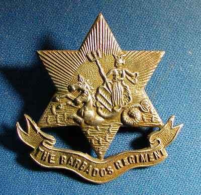 The Barbados Regiment, A Beautiful Cap Badge, 6 Pointed Star, Neptune Rising