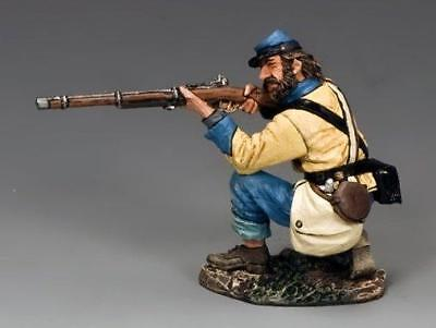 """King And Country Civil War """"rebel Kneeling Firing Cw103  ( Reduced To Clear )"""