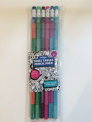 Smiggle Times Tables Pencils New