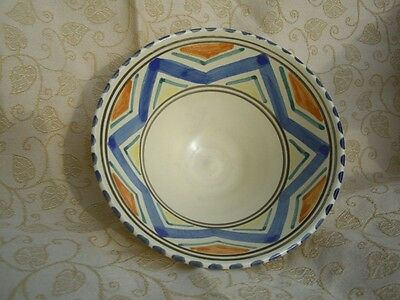 Honiton Pottery Small Bowl Hand Painted On Cream + Nice Early Antique