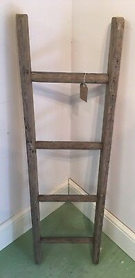 Vintage Wooden Ladder  - Ideal For Shelving Or Towel Rail #H - Project