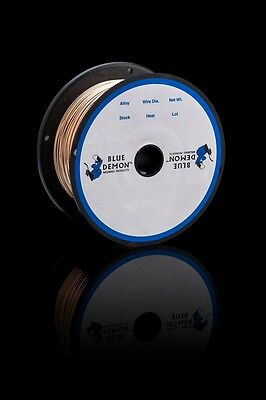 ERCuSi-A X .035 X 2 lb Spool MIG Silicon Bronze Blue Demon copper welding wire