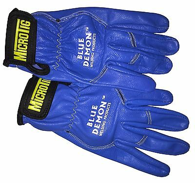 Welding Gloves Micro TIG Blue Demon free shipping size large