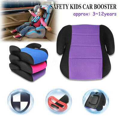 Car Booster Seat Safe Chair Pad Cushion For 3-12 OLD Children Child Kid Toddler