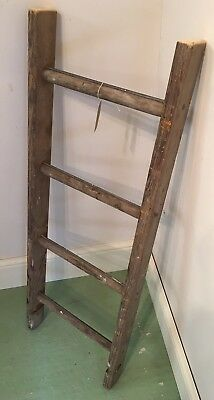 Vintage Wooden Ladder  - Ideal For Shelving Or Towel Rail #M- Project