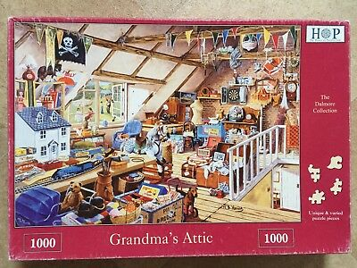 Grandma's Attic. 1000 piece DeLuxe Puzzle. From The House of Puzzles.