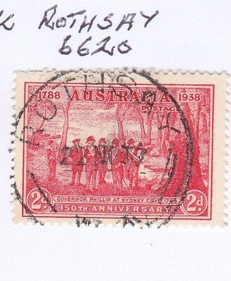 *WA POSTMARKS.ROTHSAY.PO1935-40.Type C30.On 2d commem.Rated2.*