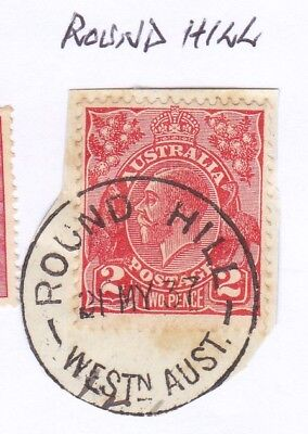 *WA POSTMARKS.ROUND HILL.PO1911-51.Type B29.On 2d KGV.CTS.Rated2>3.*