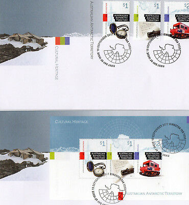 2017 AUSTRALIA AAT Lot of 2 different CULTURAL HERITAGE FDC covers (lot 11)
