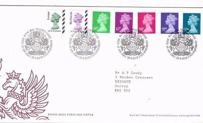 2010 New Definitive Stamps - Tallents House H/s Fdc From Collection A25