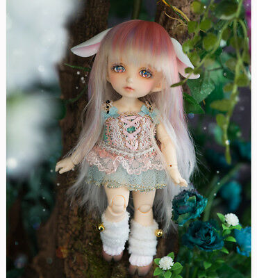 BJD pukiFee Rin Basic two face and ears Sweet face jointed dollrecast