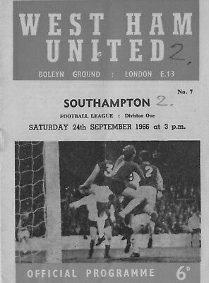 Two West Ham Programmes 1966 and 1967 for only 99P