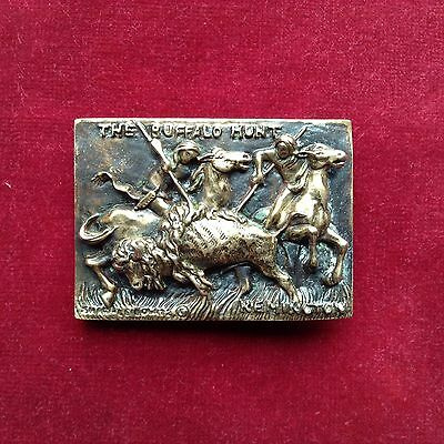 """The Buffalo Hunt"" By Remington.. Western Belt Buckle"