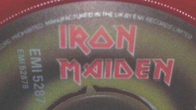 "**Misspress** 1982 A3/B4 Iron Maiden The Number Of The Beast UK 7"" EMI 5287 Ex"