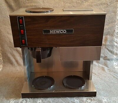 Commercial NEWCO pour-over COFFEE maker Brewer RD-3 3 burner pot warmers REFURB